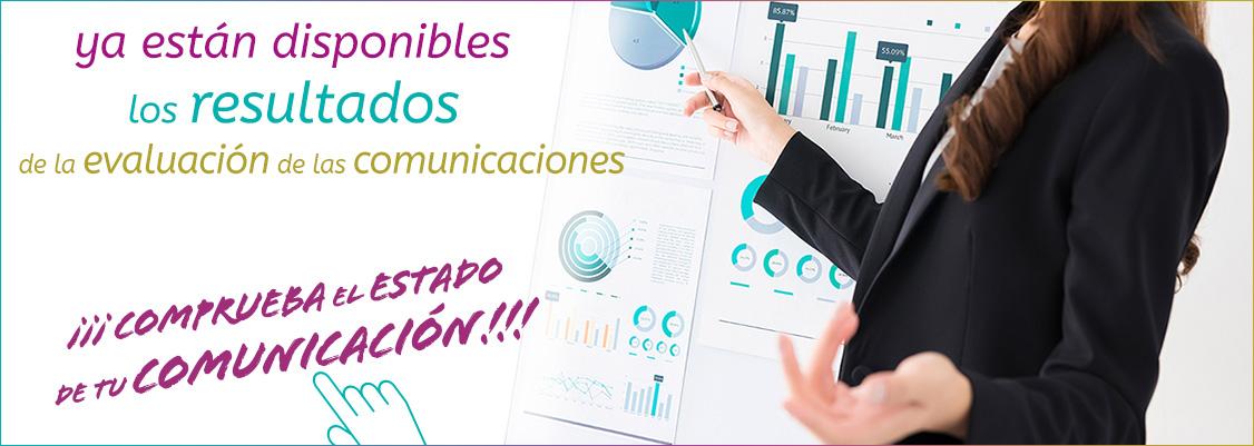 Ya están disponibles los resultados de la evaluación de las comunicaciones